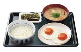 ダブル目玉焼き朝定食
